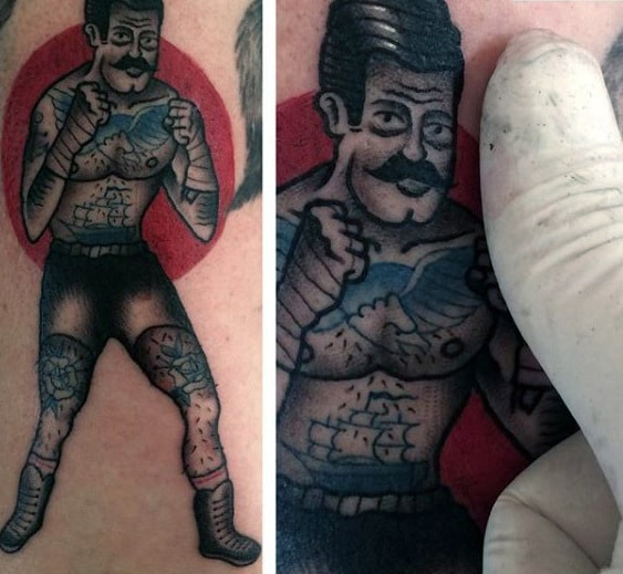red-sun-with-boxer-traditional-mens-small-arm-tattoos