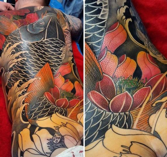 mens-full-back-japanese-koi-fish-lotus-flower-tattoo-designs