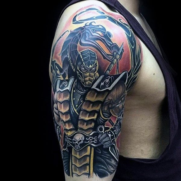 Top 30 Mortal Kombat Tattoos For Men