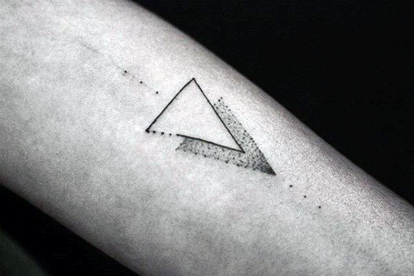 two-triangles-dotwork-guys-simple-forearm-tattoos