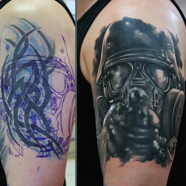 gas-mask-arm-tattoo-cover-up-ideas-for-men