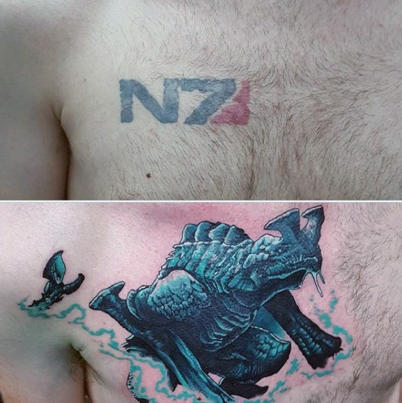 mens-cool-3d-chest-tattoo-cover-up-ideas
