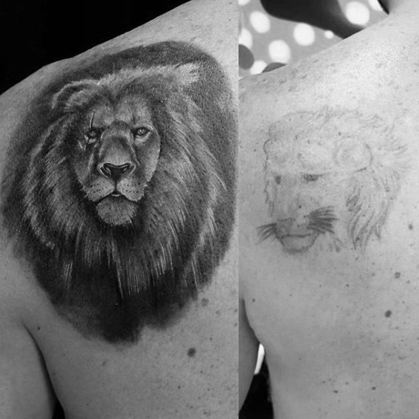 mens-shaded-black-and-grey-lion-tattoo-cover-up-ideas-on-shoulder