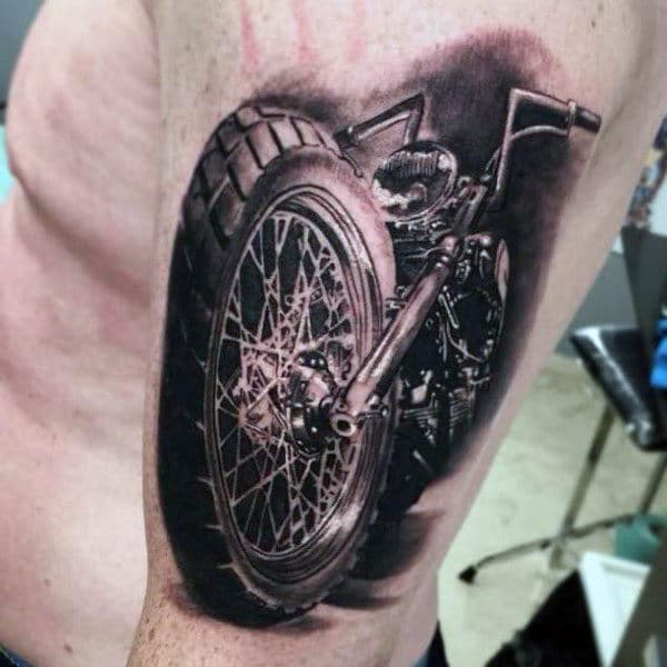 realistic-3d-harley-davidson-tattoos-for-guys-of-motorcycle-on-arm