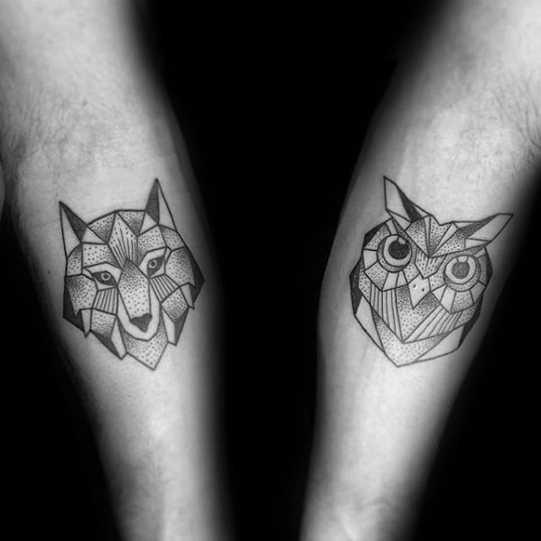 inner-forearms-fox-and-owl-mens-geometric-tattoos