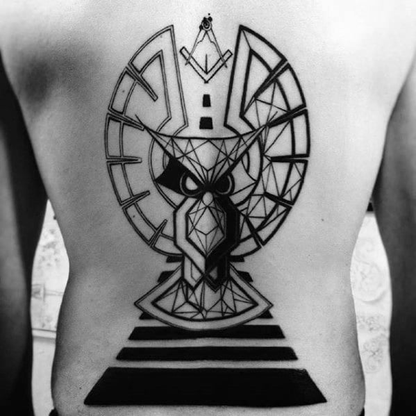 man-with-large-geometric-owl-full-back-tattoo