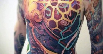 geometric-3d-colorful-full-chest-coolest-tattoos-for-men