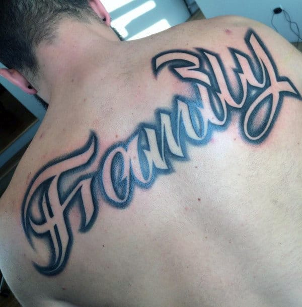 family-upper-back-male-negative-space-shaded-script-tattoos