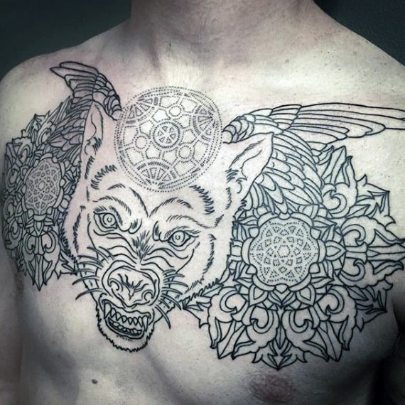 chest-tattoo-sacred-geometry-shapes-on-males
