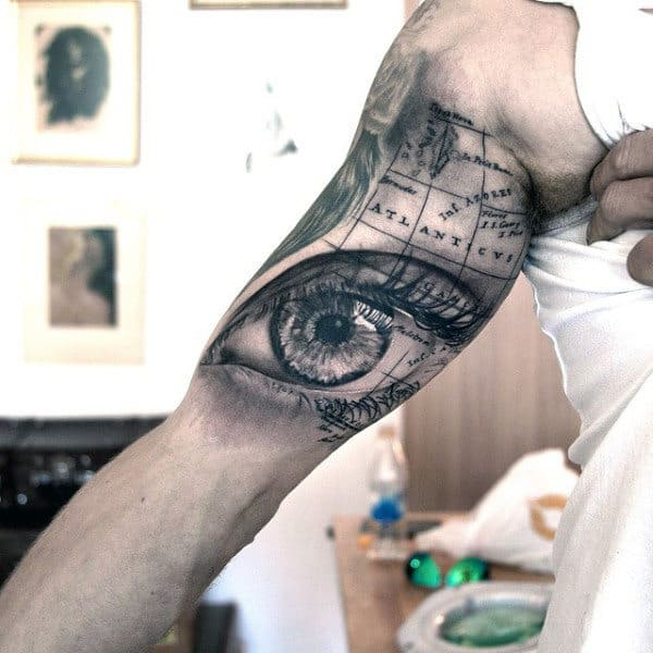eye-and-world-map-tattoo-for-males
