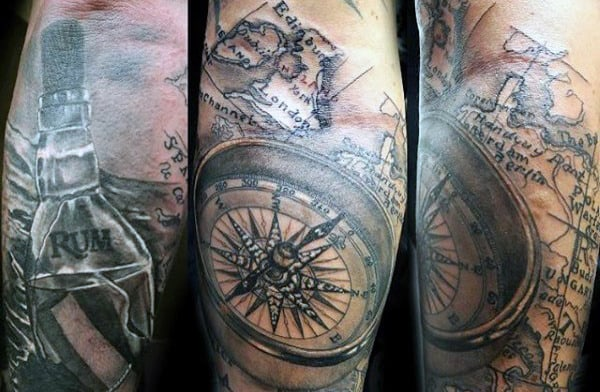 floating-bottle-at-sea-mens-world-map-tattoos
