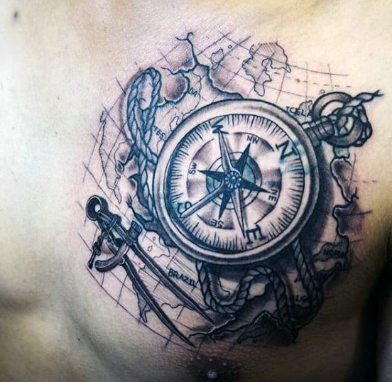manly-mens-map-tattoos-on-chest