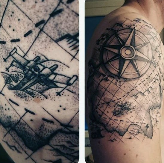 old-world-map-tattoo-for-men-inspiration