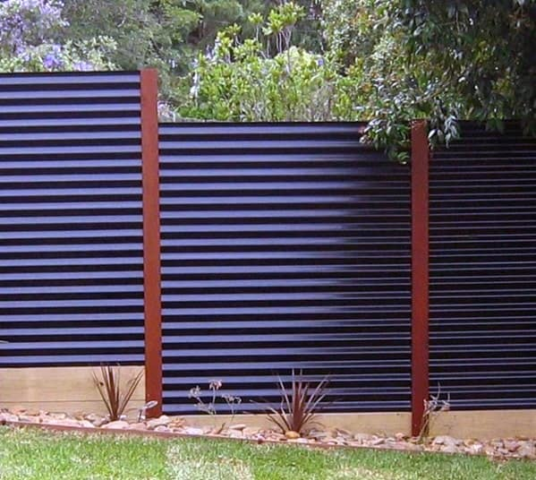 awesome-corrugated-steel-privacy-fence-ideas