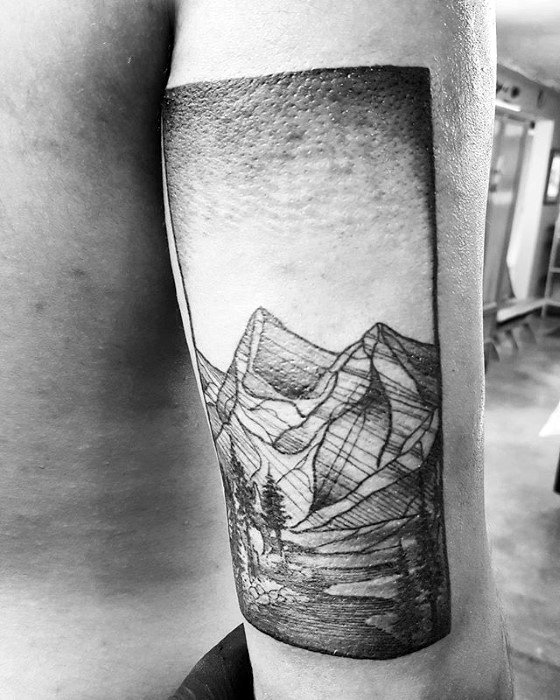 back-of-arm-nature-male-river-tattoo-design-inspiration