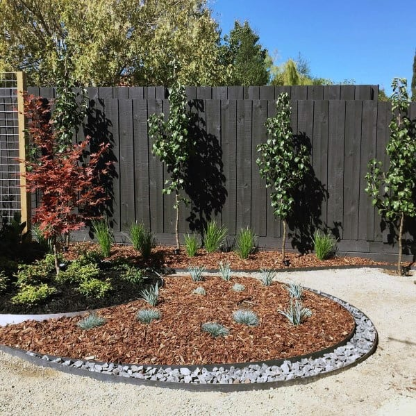 dark-stained-wood-ideas-for-home-privacy-fence