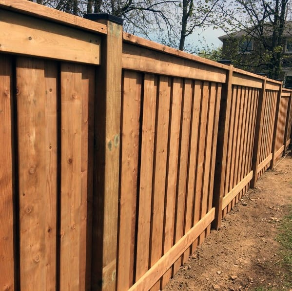 excellent-wood-backyard-ideas-privacy-fence