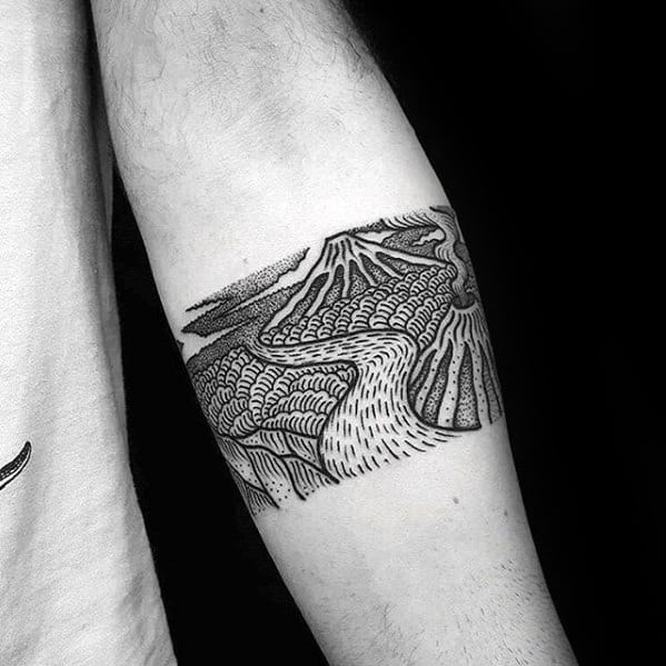 forearm-band-detailed-black-ink-river-tattoo-ideas-for-males