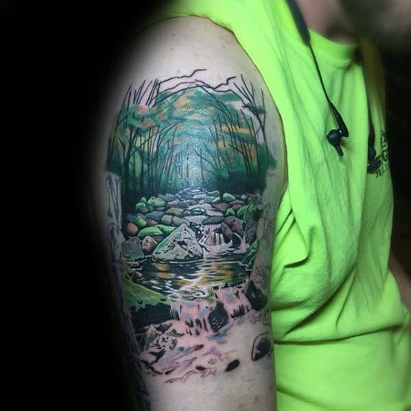 mens-tattoo-with-river-design-arm