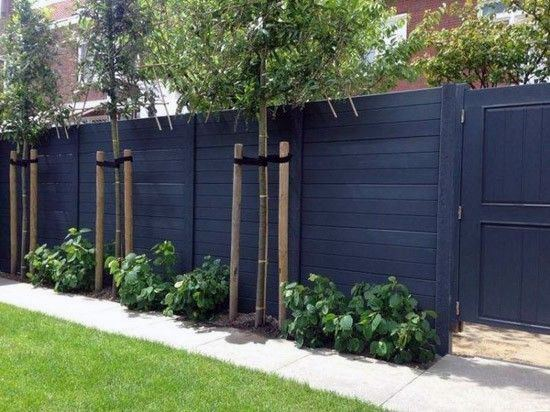 stained-black-wood-designs-privacy-fence