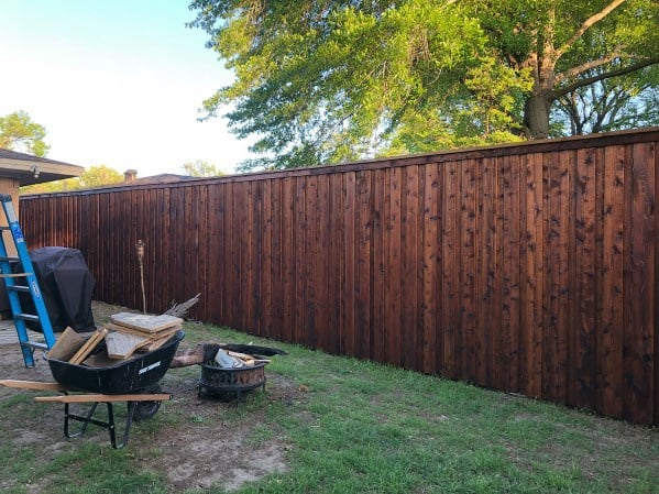 stained-wooden-ideas-privacy-fence