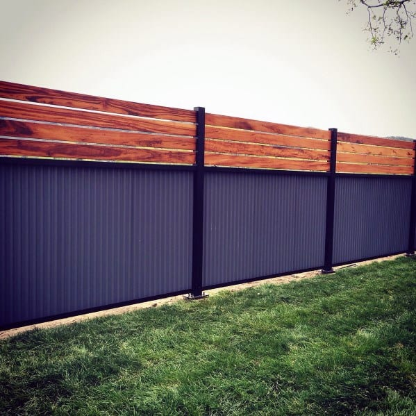 wood-and-steel-privacy-fence-home-designs