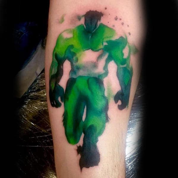 green-painted-tattoo-hulk-male-forearms